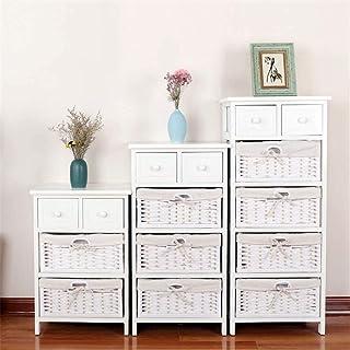 WBDZ Boîte à Chaussures, Armoire de Plancher Blanc, Table de Chevet en Bois de Style Shabby Chic, Panier de Rangement, Sal...