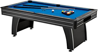 Fat Cat Tucson 7' Pool Table with Automatic Ball Return, Electric Blue Playing Surface and Included Billiard Accessories t...