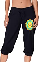 Womens Sweatpants Capri Pants, Sons of The American Legion Cotton Running Beam Trousers for Women