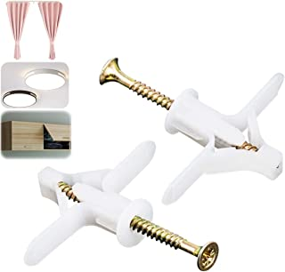 Gipsplaatpluggen & schroeven, expansieschroeven, M8 x 50 mm, gipsplaatpluggen 50 stuks, voor eenvoudige installatie in gip...