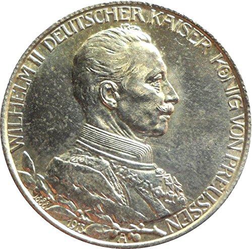 Silber Münze Dt. 2 Mark 1913 A - Regierungsjubiläum - Wilhelm II Deutscher Kaiser König von Preußen - ORIGINALE Silbermünze aus dem Kaierreich