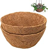 3PCSHanging Basket Coco Liner 12' Deep Coco Wall Planter Liner Round Coco Fiber Liner Pre-formado Reemplazo cesta en forma de forro de fibra de coco natural