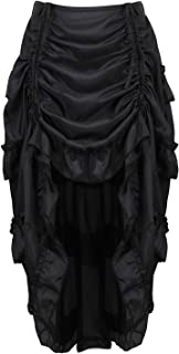 Zhitunemi Women's Steampunk Skirt Ruffle High Low Outfits Gothic Plus Size Pirate Dressing