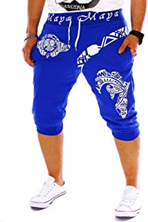 Men's Sport Pants, Fashion Printing Shorts Drawstring Elastic Waist Casual Loose Jogger Trouser