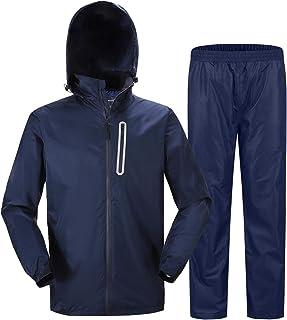 ZITY Men's Rain Suit Waterproof Hooded Rainwear,Windbreaker for Outdoor