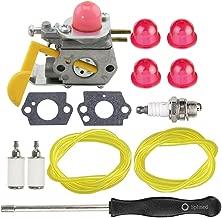 HIPA C1U-W24 545081808 Carburetor + Tune Up Kit Spark Plug for Poulan Featherlite Weed Eater FL20 FL20C FL23 FL25 FL26 FL26C FX26 FX26S FX26SC SST25 SST25C String Trimmer Brushcutter