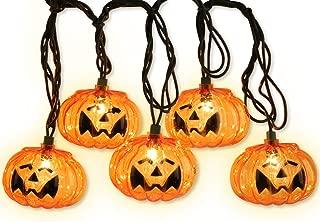 LIDORE Set of 10 Halloween 3D Jack-O-Lantern Pumpkin Decoration String Lights-for Holiday, Festival, Party Decor