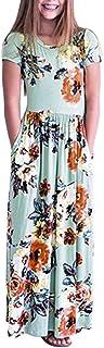 YWLINK Casual Vestido Largo De Boho De La ImpresióN NiñAs Manga Corta Verano Vestido Estampado Floral Fiesta1-10 AñOs De E...