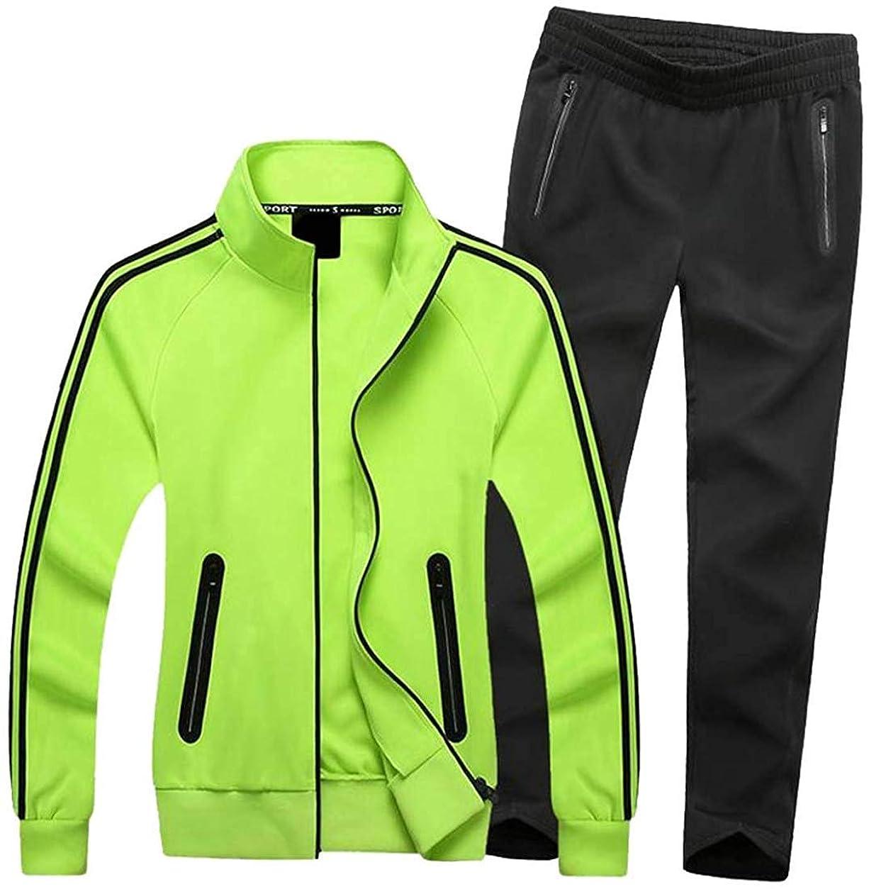 南西代替案正気レディース2ピースプラスサイズジャケットコートパンツストライプスポーツウェアトラックスーツセット Black Medium
