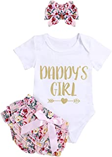 Miward Newborn Baby Girls Off Shoulder Ruffle Top Lace Tassel Short with Headband Outfit Set