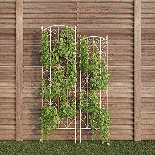 Pure Garden 50-LG5081 (White) Garden Trellis-for Climbing Plants
