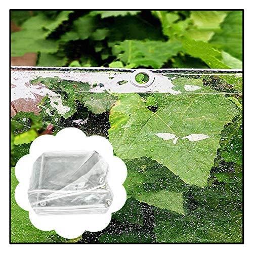 RPGP-Teloni Trasparente Telone Occhiellato, Foglio di Tela Cerata Verde Resistente all'Acqua Copertura Trasparente in PVC Resistente Ai Raggi UV Spessore 0,5 Mm (Color : Clear, Size : 1.8X2.5M)