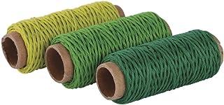 Rayher Hobby 53924000 Hanfkordel-Set, 1mm ø, grün Töne, 3 Farben á 12m, SB-Btl 36m