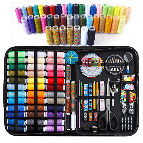 226PCS Large Sewing Kit, Premium Sewing Supplies 43 XL Thread Spools, Needle, Pins, Clips, Thimble,Organizer Sewing Kits for for Adults Professional, Emergency Repairs, Beginner, Kids, DIY