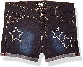 XOXO Girls Stretch Denim Short Denim Shorts - Blue