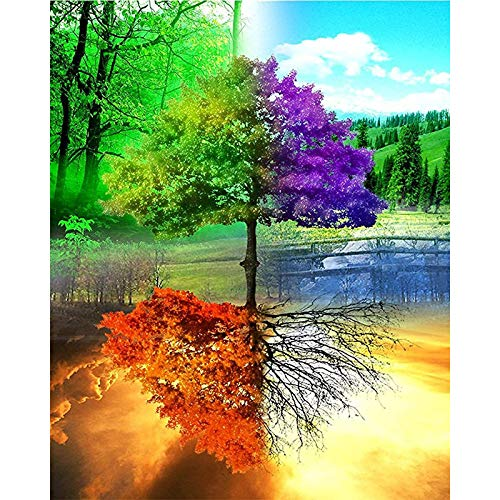 LWCOTTAGE 5D FAI Da Te Diamante Pittura,5D DIY Diamond Painting Cross Ctitch Kits Diamond Mosaic Embroidery Scenery Animals 3D Painting Square Drill Gift,2,30X45Cm Square Drill