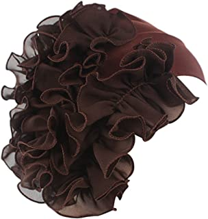 Womens Wrap Cap Flower Chemo Hat Beanie Scarf Turban Headband