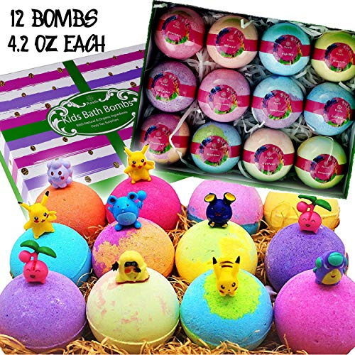 Natural Bath Bomb Gift Set. Bath Bombs for Kids with...