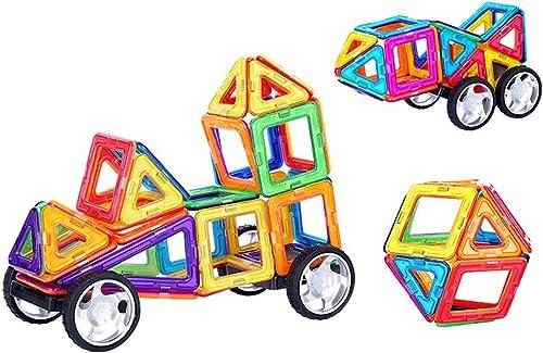 Hbwz Magnetische Bausteine 100PCS Puzzle 3D magnetische Bildung Fliesen Spielzeug geeignet für Kinder über 3 Jahre alt
