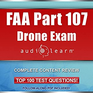 FAA Part 107 Drone Exam AudioLearn audiobook cover art
