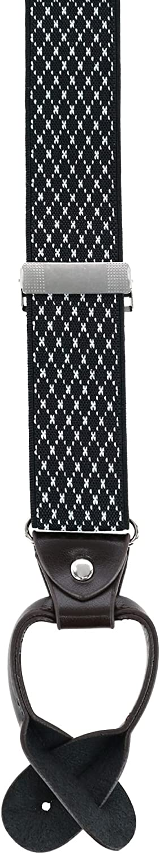 Trendy Yuppy Men's 1.375 Inch Wide Dress Y-Back Button-End Suspenders