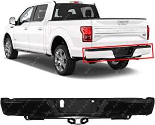 MBI AUTO - Primered, Steel Rear Step Bumper Assembly for 2015 2016 2017 2018 Ford F150 w/Base Tow Hitch 15-18, FO1103186