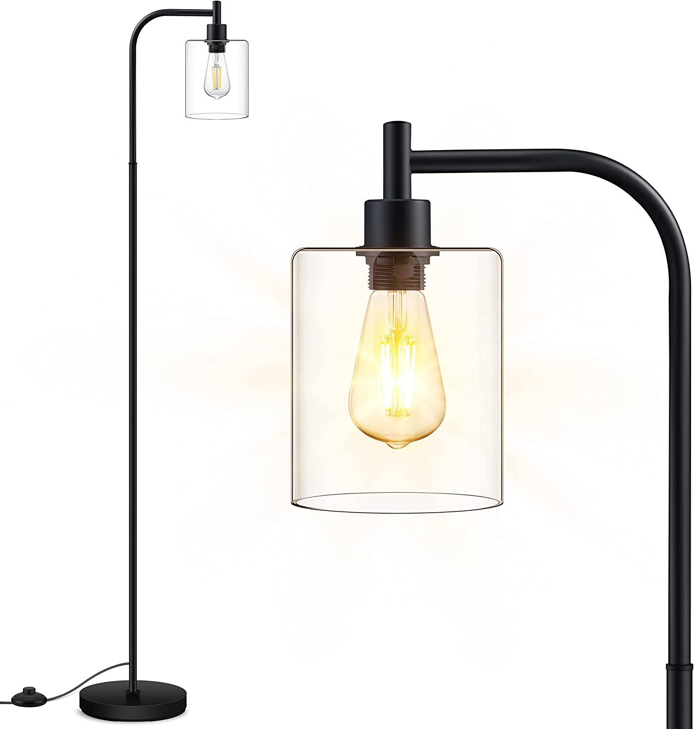 Floor Max 52% OFF Lamp Standing with Glass Bulb Popular standard Incl 6W Lampshade LED