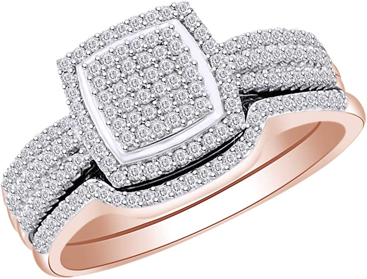 1 2 Cttw Womens Round White Natural Diamond Bridal Store Wedding National products Engag