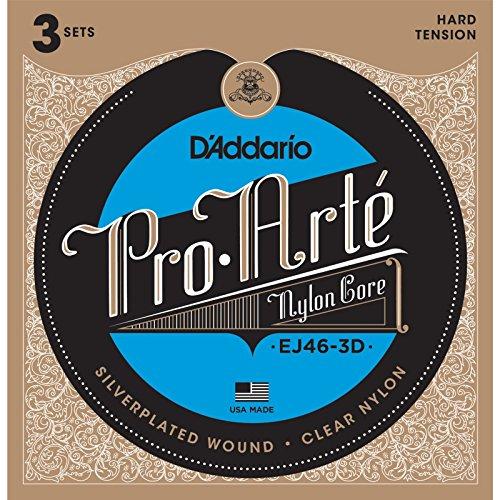 D 'Addario EJ46–3d Klassische 6Stück Nylon Seil für Musikinstrument–Saiten für Musikinstrumente Gitarre, Gitarre, Nylon, klassisch, 6Stück (S))