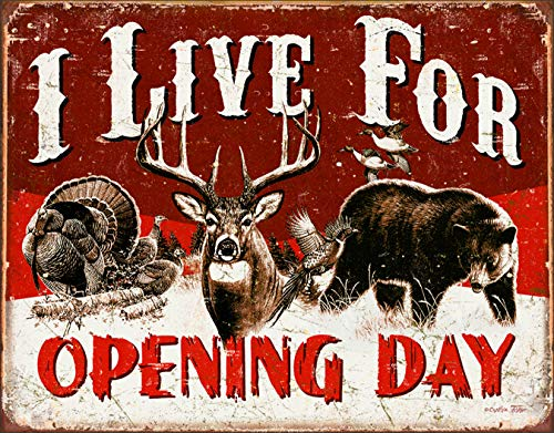 "Desperate Enterprises I Live for Opening Day Tin Sign, 16"" W x 12.5"" H"