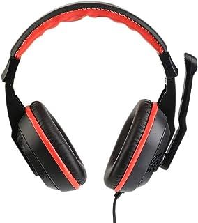 healthwen Auriculares de Ordenador con cancelación de Ruido estéreo Ajustables de 3,5 mm para Juegos