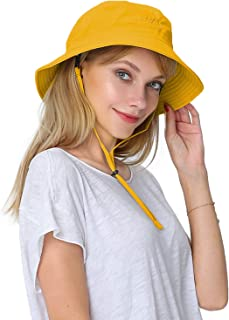 Puli Women s Packable Fisherman Bucket Hat Outdoor Hat with Chin Strap -  Sun Protective 1d6bc3c89d70