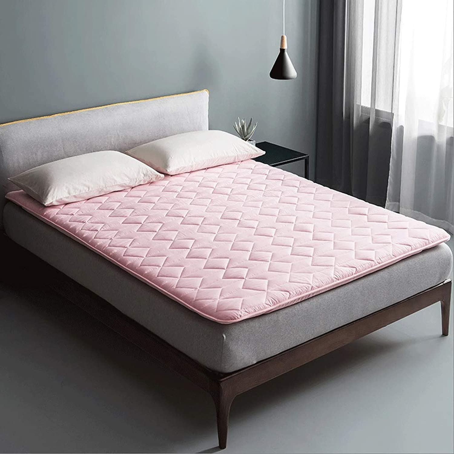 Cotton Mattress, Double Sponge Pad, Comfortable and Breathable Foldable Cushion (color   D, Size   90x190cm)