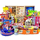 VINTAGE CANDY CO. 1970s RETRO CANDY GIFT BOX - 70s Nostalgia Candies - Flashback SEVENTIES Fun Gag Gift Basket - PERFECT '70s Candies For Adults, College Students, Men or Women, Kids, Teens