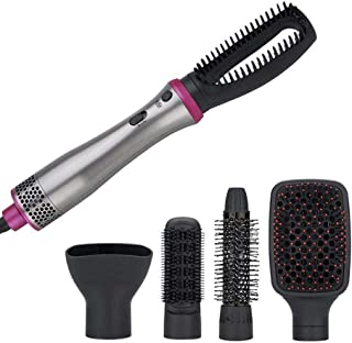 Peine de aire caliente Secador de cabello y voluminizador de un paso 5 en 1 Plancha de pelo Rizador Peine Secador de soplado eléctrico con rodillo de peine Styler Brush Brush