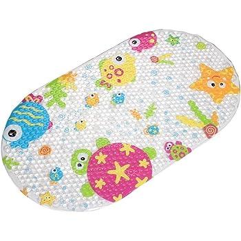 Tapis De Bain En Pvc Antiderapant Top Spring Pour Enfants Plastique Multicolore Ocean Amazon Fr Cuisine Maison