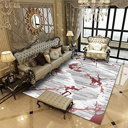 MENEFBS Alfombra oriental, diseño tribal, colorido mantel de sofá o silla, gran alfombra tradicional para pasillo, gallo vivo, dormitorio de los niños, 160 x 230 cm