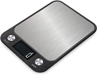 Báscula Digital para Cocina Balanzas digitales for cocinar en la cocina, báscula electrónica for pesaje de acero inoxidable con pantalla LCD, plataforma más grande, gramo preciso, diseño delgado for e