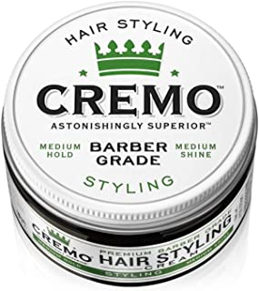 Cremo Premium Barber Grade Hair Styling Cream, Medium Hold, Medium Shine, 4 Oz