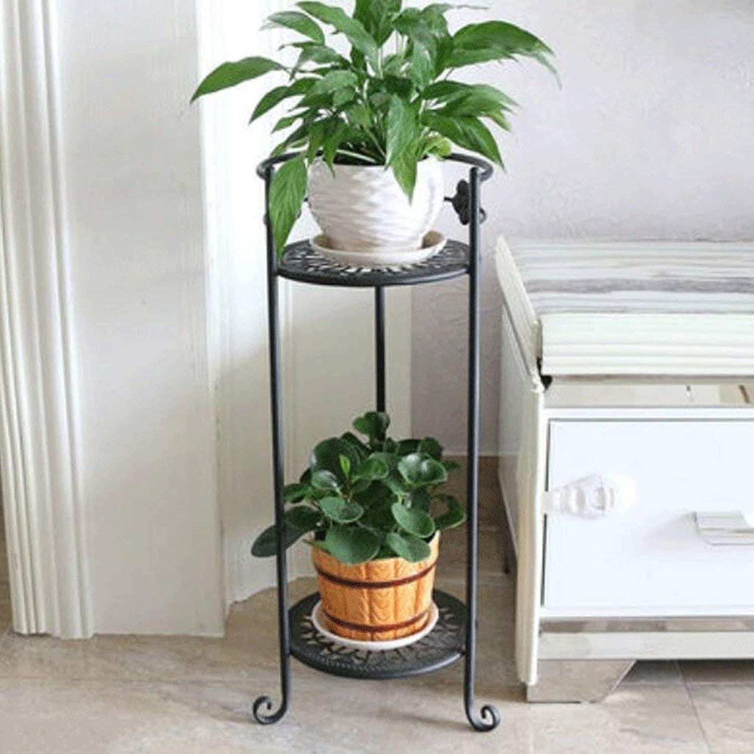 Gifts & Decor Plant Stand Shelf Flower Racks European Style Balcony Flower Frame Multiple Layers Living Room Interior Flower Flower Pot Rack Plant Shelf (color   A, Size   Three)