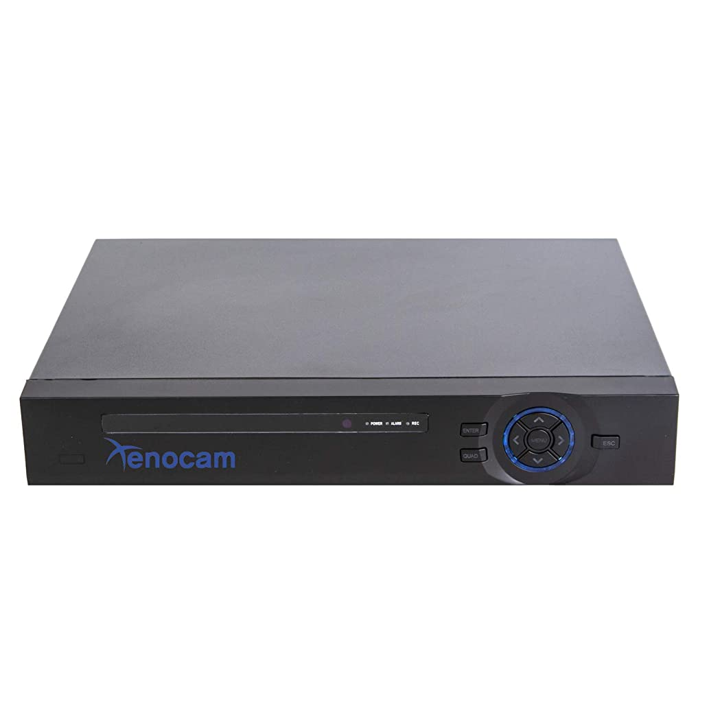 Xenocam 16CH 1080N Hybrid 5-in-1 AHD DVR (1080P NVR+1080N AHD+960H Analog+TVI+CVI) Standalone DVR CCTV Surveillance Security System Video Recorder Motion Detection HDD & Cameras not Included