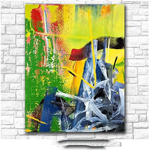 nobrand Leinwandmalerei Drucke Wandkunst Gerhard Richter Korn Malerei Wohnzimmer Home Decor Ölgemälde auf Leinwand 60x90cm ohne Rahmen