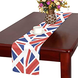WHIOFE Flag Country Flag Retro Vintage Design Table Runner, Kitchen Dining Table Runner 16 X 72 Inch for Dinner Parties, Events, Decor