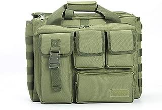 Rjj 600D Oxford Cloth Solid Color Outdoor Sports Shoulder Slung Backpack Multi-Function Tactical Handbag Men and Women Travel Computer Bag Waterproof Exquisite (Color : Green)