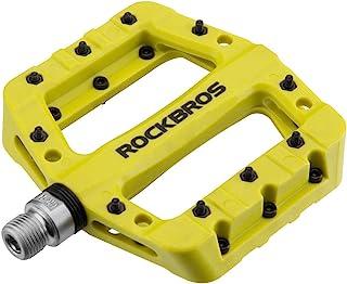 "ROCKBROS MTB Pedals Mountain Bike Pedals Lightweight Nylon Fiber Bicycle Platform Pedals for BMX MTB 9/16"""