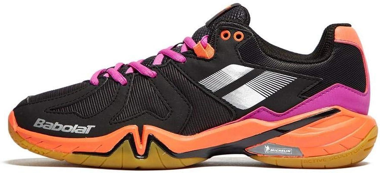 Babolat 2018 Shadow Spirit Women shoes,Badminton Racquetball Squash Indoor Tennis,Black Purple Pink