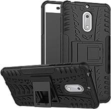 Case for Nokia 6 Case Cover,Case for Nokia 6 Arte Black Case Shockproof Mobile Phone Case Stand Black