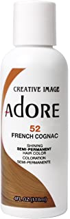 Adore Semi-Permanent Haircolor #052 French Cognac 4 Ounce (118ml) (3 Pack)