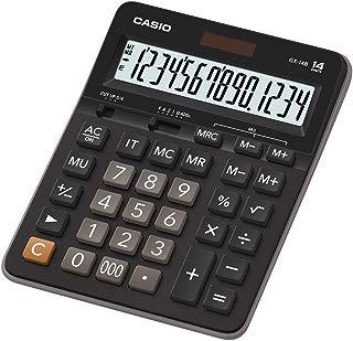 Calculadora de Mesa com Visor 14 Dígitos, Casio, GX-14B, Preto