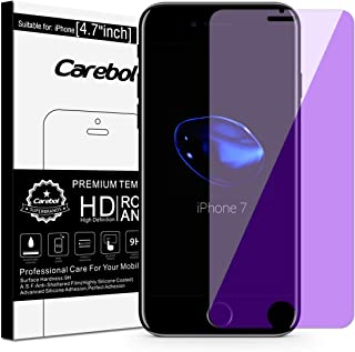 Carebol Anti Blue Light Tempered Glass Screen Protector for iPhone 8,7,6s,6 [4.7